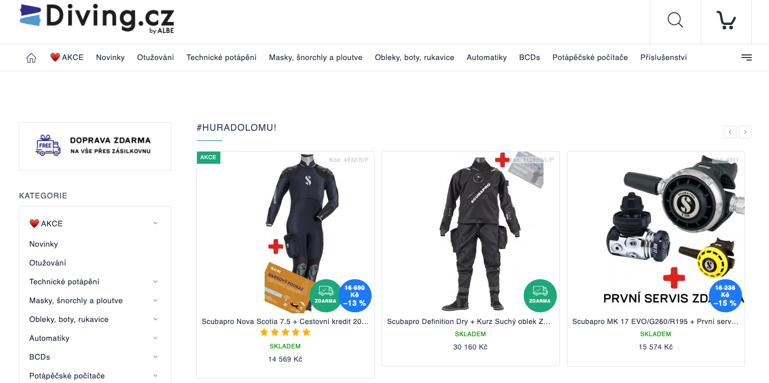 E-shop Diving.cz